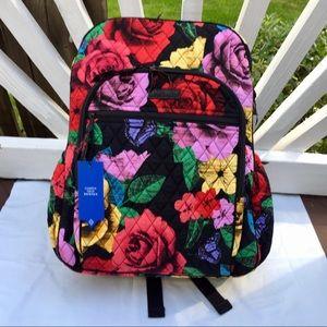 Vera Bradley Campus Tech Backpack Laptop Rose